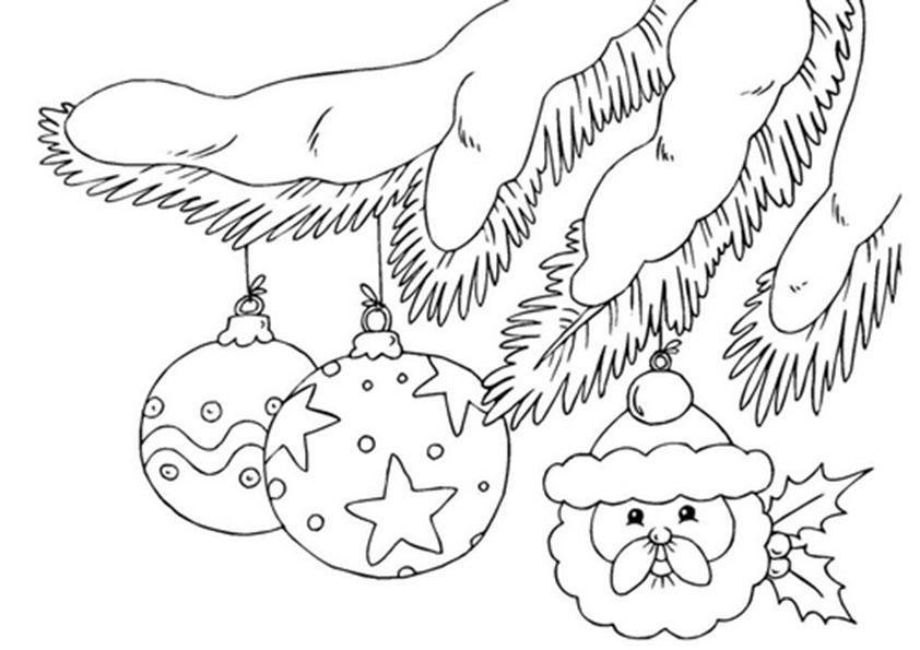 bolas en el arbol de navidad