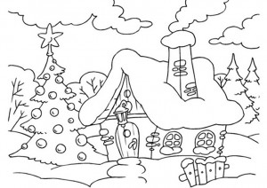 casa y entorno navideño