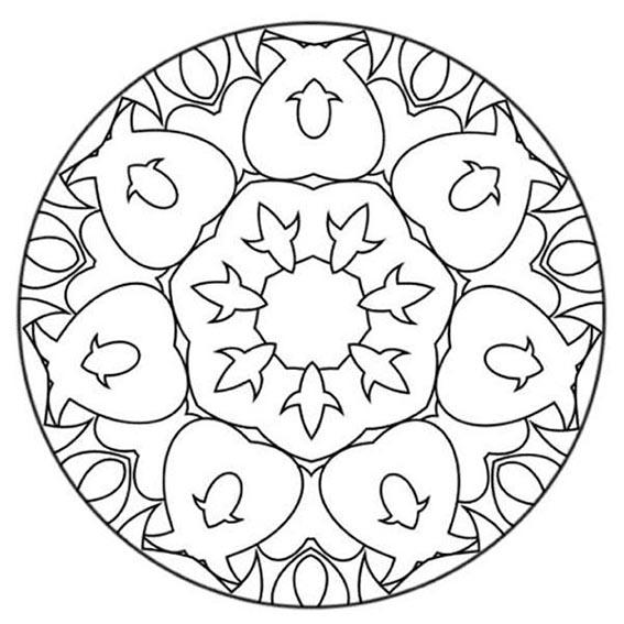 mandala con flor de lis