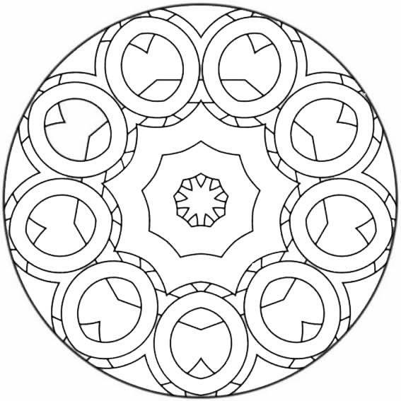 mandala con circulos