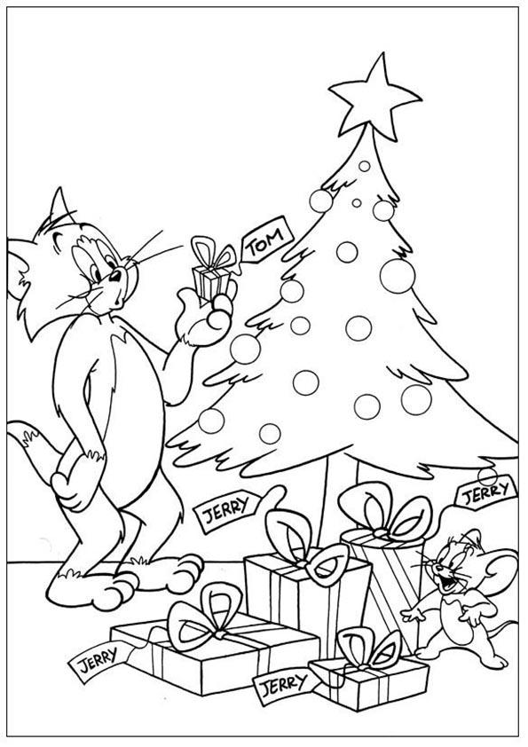 tom y jerry en el arbol de navidad