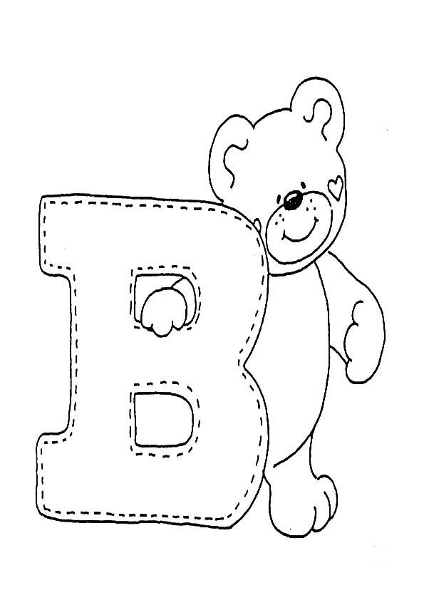 Letra B para colorear