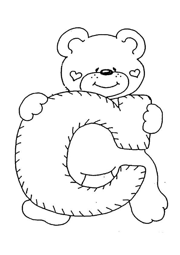 Letra C para colorear | Dibujos para colorear