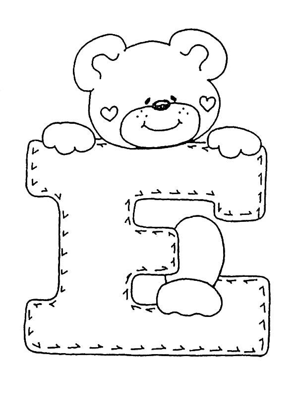 letra E para colorear