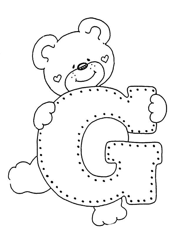 letra G para colorear