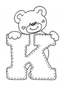letra K para colorear