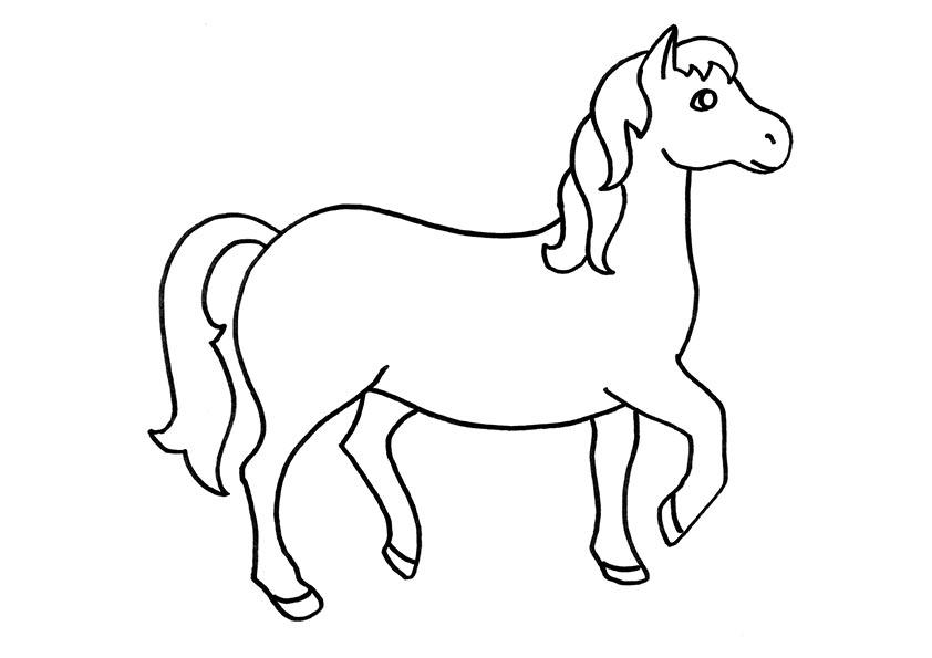 caballo para pintar