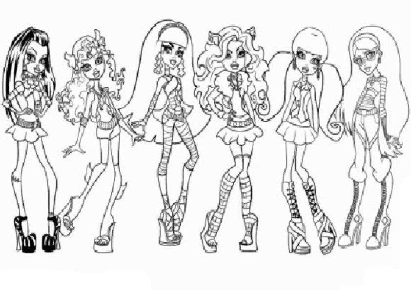 las chicas de monster high para colorear