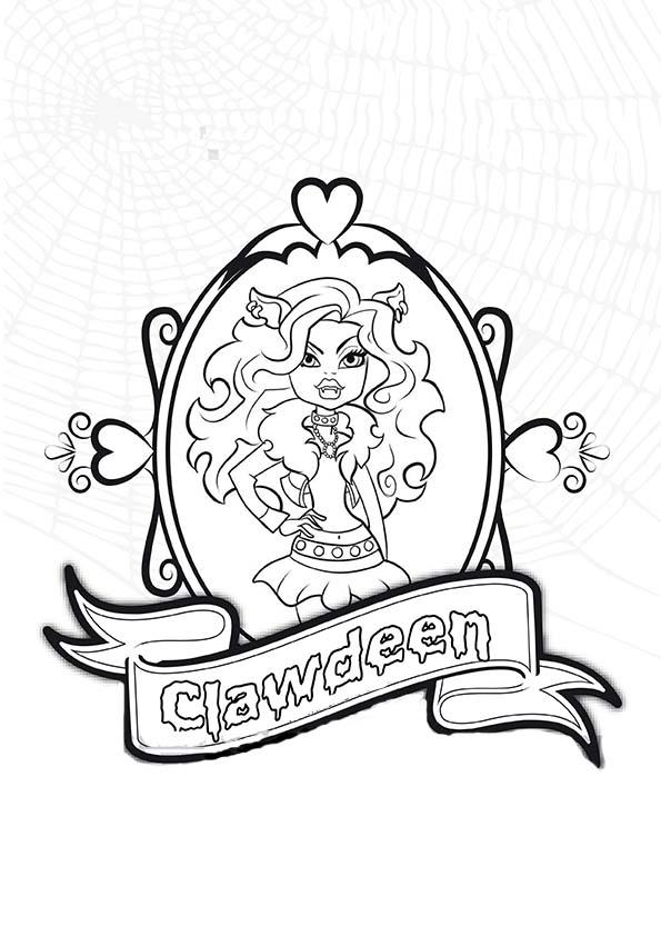 Monster High: Clawdeen y Cleo  Dibujos para colorear ...