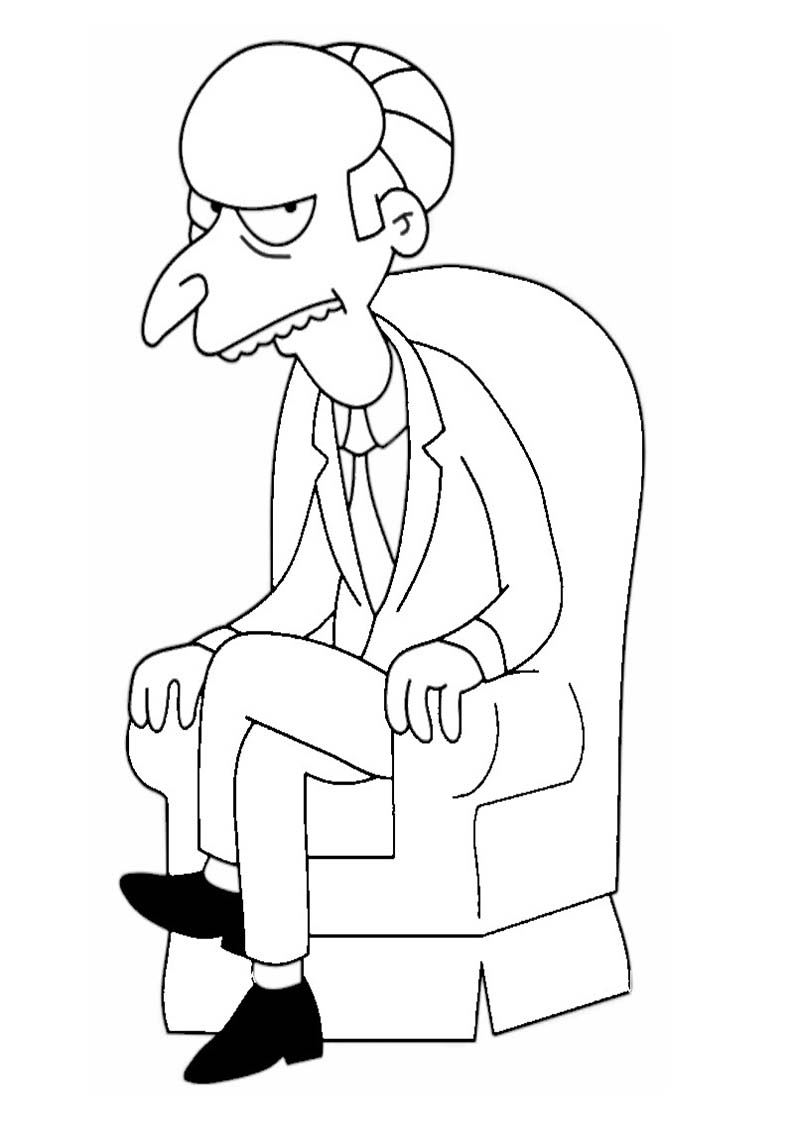 sr burns de los simpson