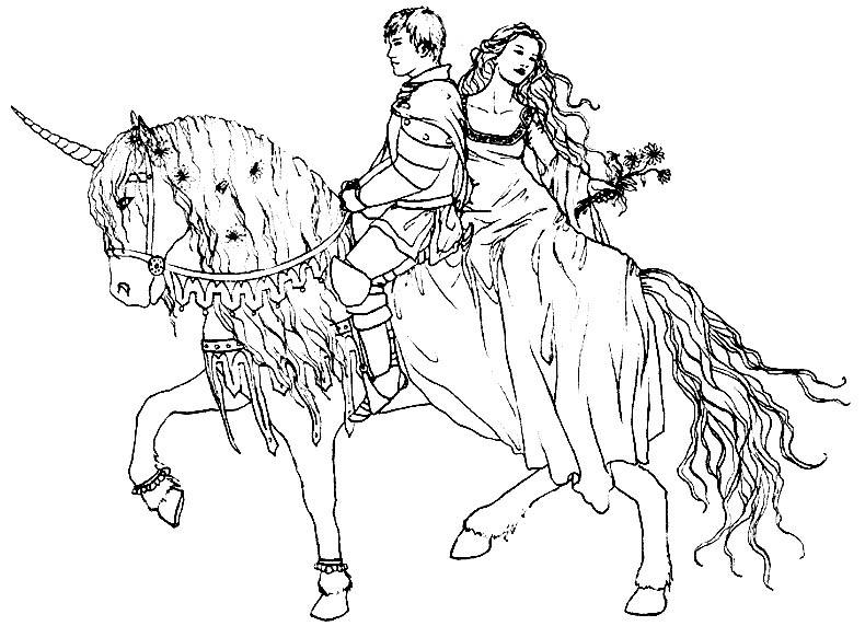 principe y princesa a caballo