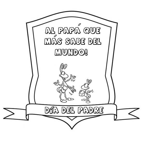 felicitacion del dia del padre para colorear