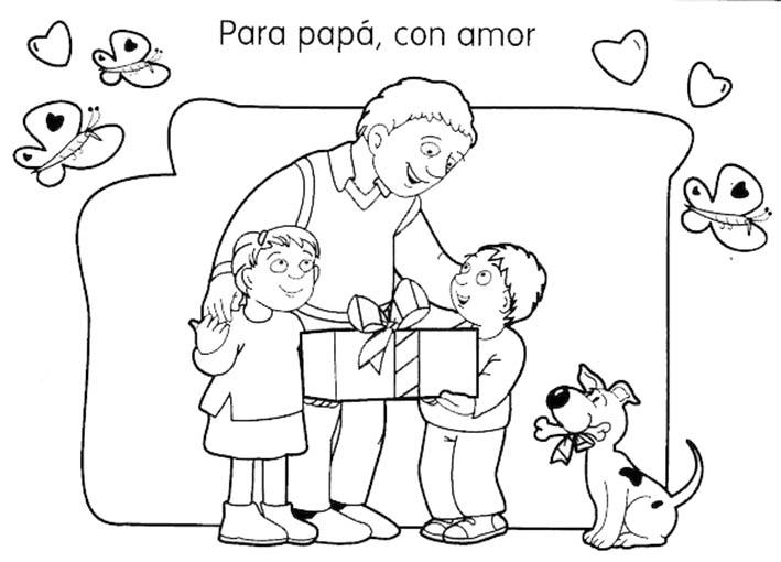 padre e hijos en imagen para regalar
