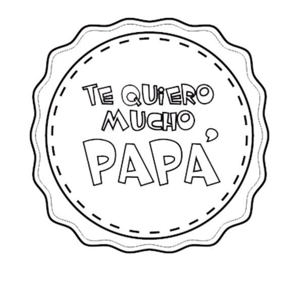 medalla para papa