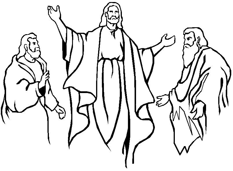 jesus y dos apostoles