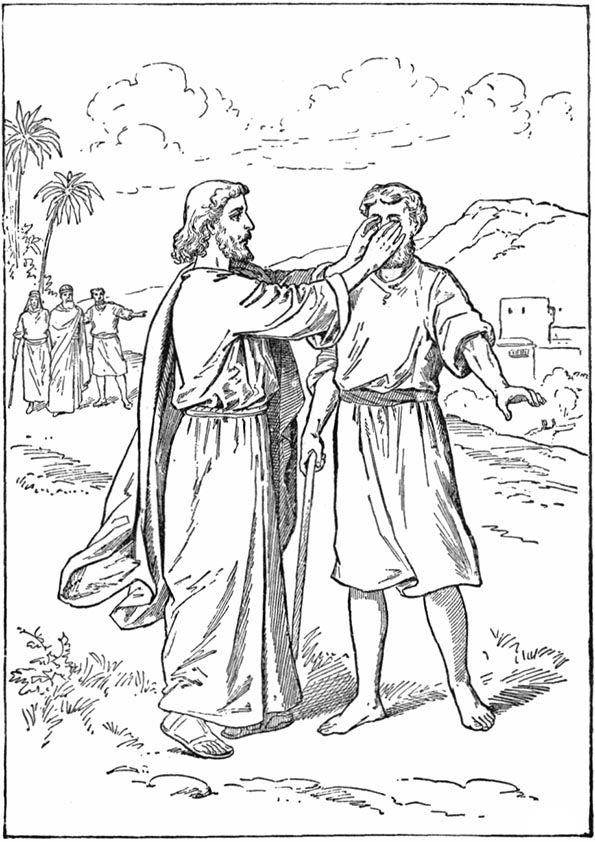 jesus curando a un ciego