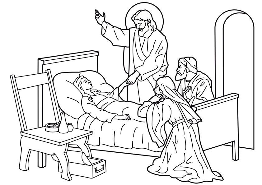 jesus curando enferma
