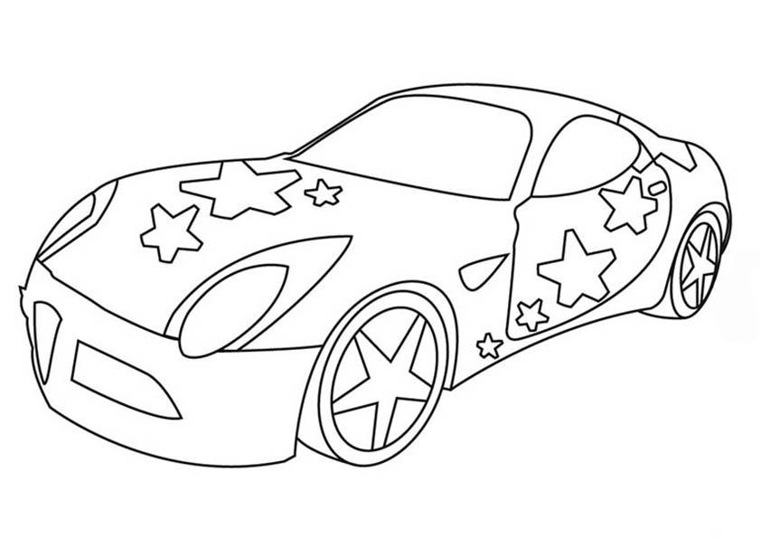 coche decorado con estrellas
