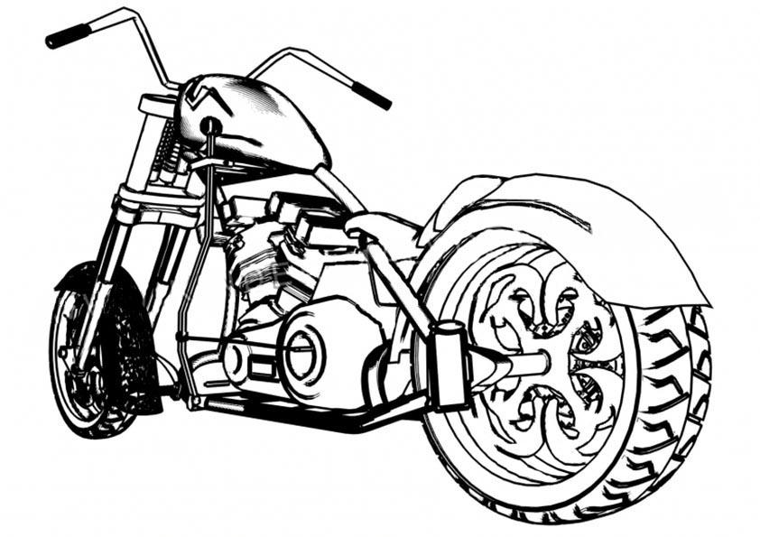 moto chopper para colorear
