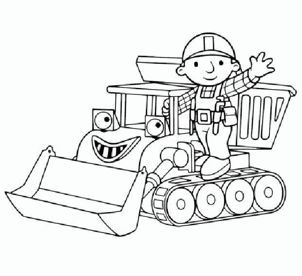 escavadora de obra