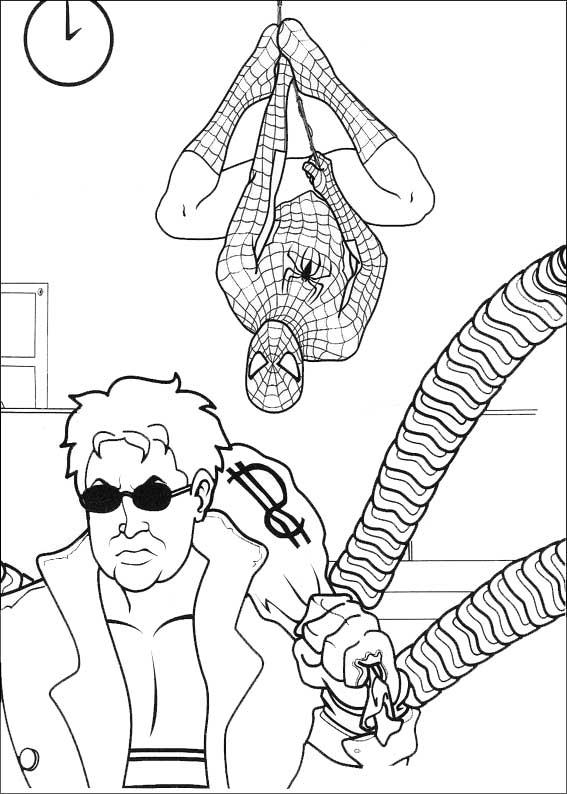 spiderman acecha al enemigo
