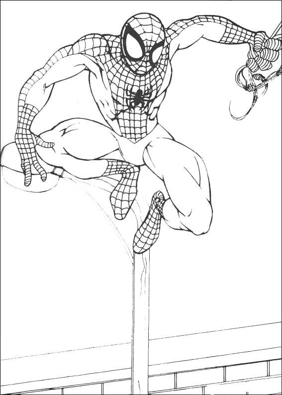 spiderman listo para el ataque