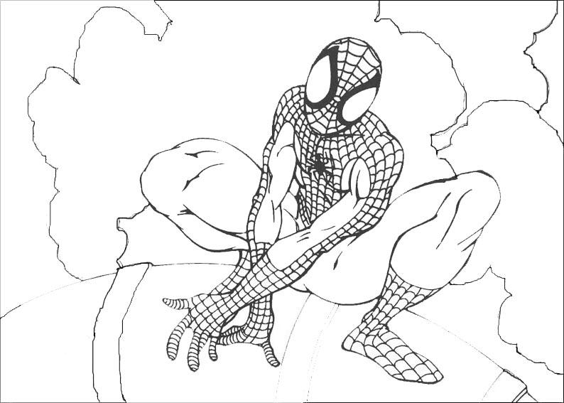 spiderman en lo alto de la ciudad