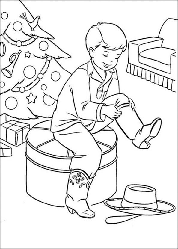 Niño con regalos de Navidad 7