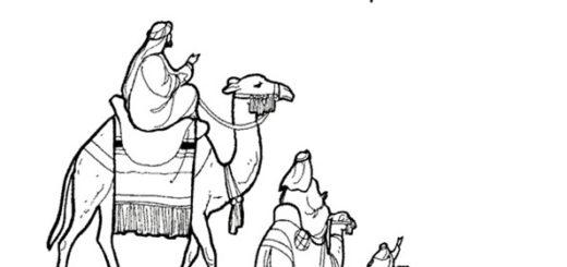 Dibujo de los Reyes Magos para colorear 12